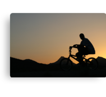 Cycler silhouette Canvas Print