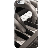 Soft Pads, Keyboard Player Oil Painting iPhone Case/Skin