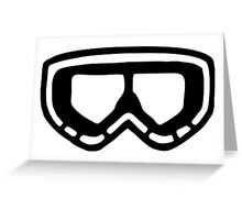 Snow Goggles Greeting Card