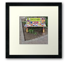 """Power of KINDNESS"" - Tiled Bench Framed Print"