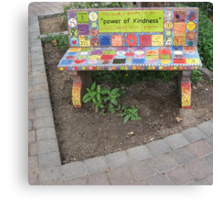 """Power of KINDNESS"" - Tiled Bench Canvas Print"