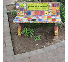 """Power of KINDNESS"" - Tiled Bench Photographic Print"