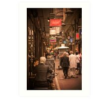 Lunchtime in Melbourne with friends Art Print