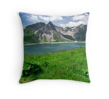 Lünersee, Austria Throw Pillow