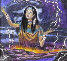 creating lightning by Ellaine Walker