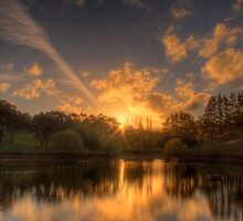Sunset at Appletree Cottage, Adelaide Hills by Elana Bailey
