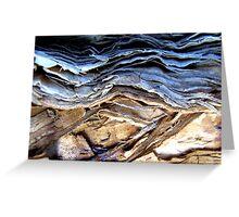 Brown earth...stormy skies.... Greeting Card