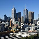 Melbourne Skyline by Ajmdc