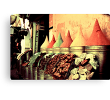 Moroccan Spice Shop Canvas Print