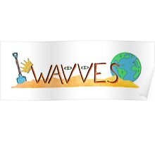 Wavves Text Illustration Poster