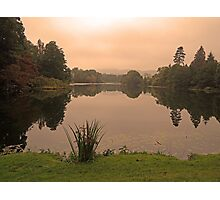 Peach Sky at Great Witley Photographic Print