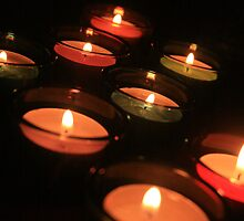 colourful candles by Melani