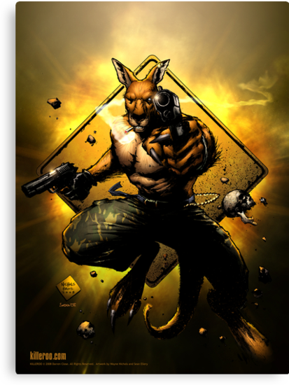 Killeroo - issue one cover (alternate colors) by killeroo