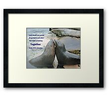 Seal Love: In the Same Direction Framed Print