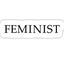 """""""Feminist"""" (black) Sticker"""
