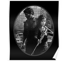 Ellie & Joel - TLOU Nerdy B&W Poster