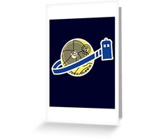 Tardis Space Company - Funnt Doctor Who Nerdy Addicted Greeting Card