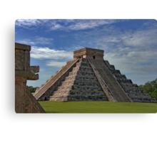 The Kukulcán Pyramid or El Castillo (The Castle) - Chichen Itza Canvas Print
