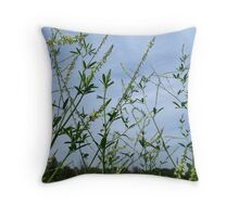 White Sweet Clover And Friends Throw Pillow