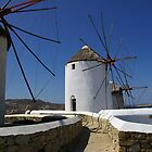 Mykonos Windmills #1 by Tom  Reynen