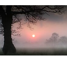 Red Sun Rising Photographic Print