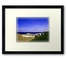 Waiting Boats Framed Print