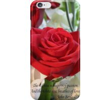 Whispers of Passion and Love Red Rose Greeting Card iPhone Case/Skin