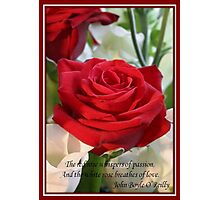 Whispers of Passion and Love Red Rose Greeting Card Photographic Print