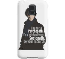 Sherlock - Psychopath/ Sociopath Samsung Galaxy Case/Skin