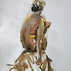 2008 Gouache Life Drawing Nude Male Study by Simon Collins