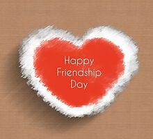 happy friendship day, heart concept by thinkoddin