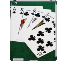 Poker Hands - Royal Flush Clubs Suit iPad Case/Skin
