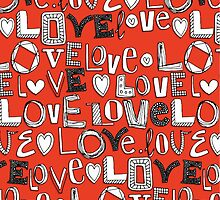 l o v e LOVE red by Sharon Turner