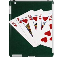 Poker Hands - Royal Flush Hearts Suit iPad Case/Skin