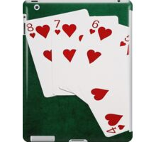 Poker Hands - Straight Flush Hearts Suit iPad Case/Skin