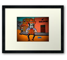 Watch Out, Louie Framed Print