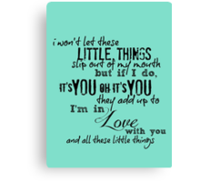Little Things - One Direction Canvas Print