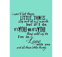Little Things - One Direction Photographic Print