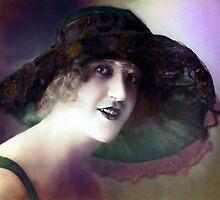vintage lady by cynthiab