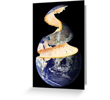 The Orange Planet Greeting Card