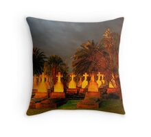 HAPPY HALLOWEEN  -Dont Be Late We Will Leave The Lights On For You !  Throw Pillow
