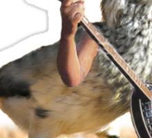 Grumpy Banjo Bird Sticker