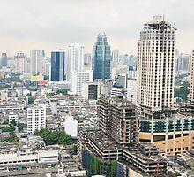 Downtown Bangkok by Juha Sompinmäki