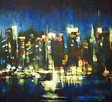 New York Skyline 2008 by Samuel Durkin