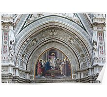 Florence Cathedral Architectural Detail Poster