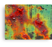 Colours of a Rusty Sign Canvas Print