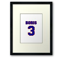 NBAS0440 Basketball player Boris Diaw jersey 3 Framed Print
