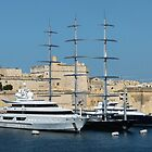 Luxury Yachts, Valletta, Malta by Trish Meyer