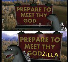 Past Expiry Cartoon : Minor Destruction by Godzilla by cartoon