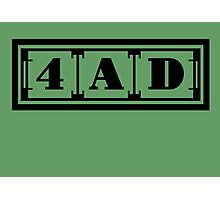 4AD Records logo (black) Photographic Print